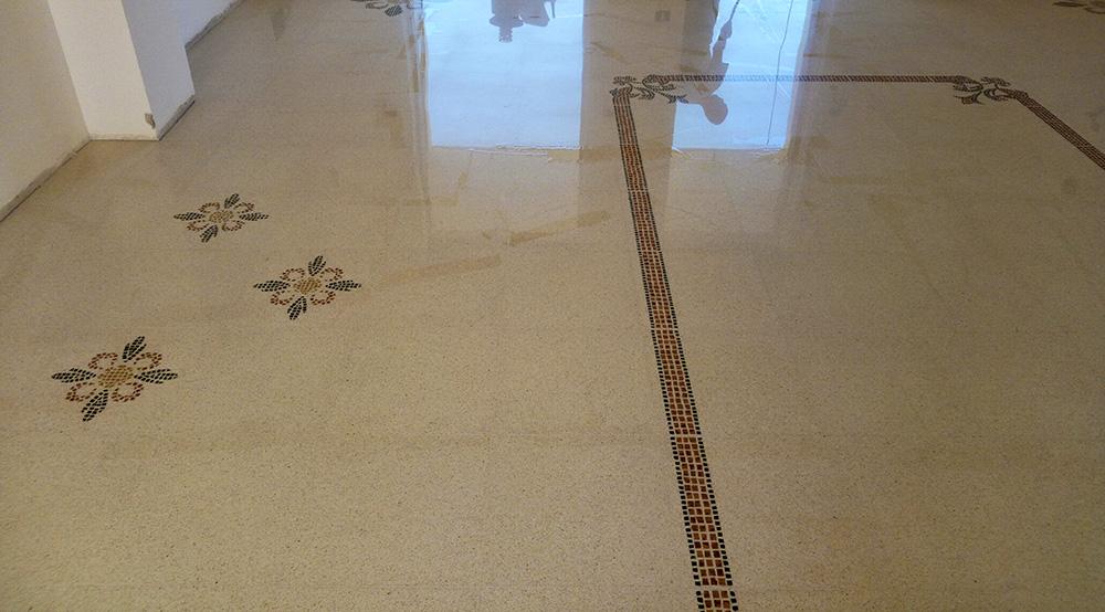 Decoro Lecce a mosaico 40x40